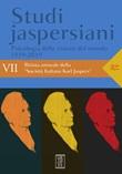 Studi jaspersiani. Rivista annuale della società italiana Karl Jaspers (2019). Vol. 7: Libro di