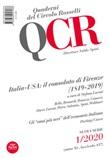 QCR. Quaderni del Circolo Fratelli Rosselli (2020). Vol. 1: Libro di