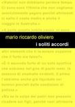 I soliti accordi Libro di  Mario Riccardo Oliviero