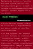 Otto settembre Libro di  Marco Maceroni