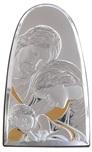 Icona cupola Sacra Famiglia argento dorato