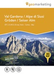 Val Gardena-Alpe di Siusi. Cartina topografica. Carta panoramica 3D Libro di